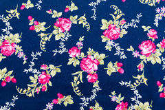 Fabric retro pattern with floral ornament Stock Images