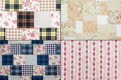 Fabric retro pattern Royalty Free Stock Photography