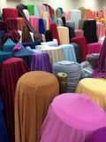 Fabric roll in fabric store. A lot of Fabric roll in fabric store Royalty Free Stock Image