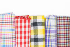 Fabric roll. Rolls of colorful patterned fabric Stock Images