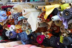 Fabric rolls Royalty Free Stock Photos