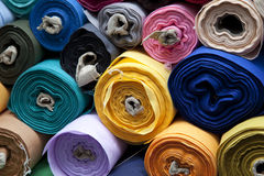 Fabric rolls Stock Photos