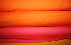 Fabric Rolls Background Stock Photos