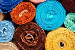 Fabric Rolls Stock Images