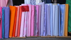 Fabric Rolls Royalty Free Stock Images