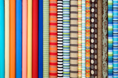 Fabric in rolls Stock Images