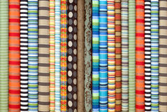 Fabric in rolls. Fabrics in rolls, different design and color Stock Image