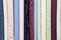 Fabric rolls Stock Image