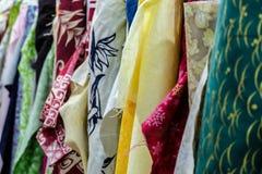 Fabric rolls Stock Photos