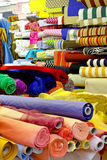 Fabric rolls warehouse Royalty Free Stock Photography
