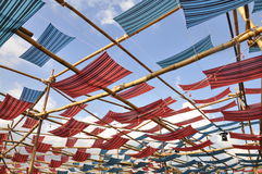 Fabric roof. It's a colorful fabric roof Royalty Free Stock Photography