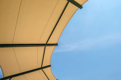 Fabric Roof Structure Stadium With Sky Royalty Free Stock Photo
