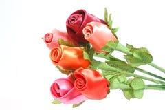 Fabric Roses Stock Photo