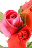 Fabric Roses Stock Photos