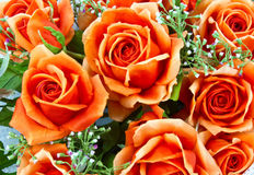 Fabric roses. The Artificial roses for your Royalty Free Stock Photo