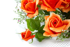 Fabric roses. The Artificial roses for your Royalty Free Stock Photos