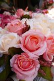 Fabric roses bouquet royalty free stock images