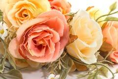 Fabric roses,Fake textile vintage Royalty Free Stock Image