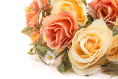 fabric roses,Fake textile vintage Royalty Free Stock Images