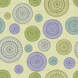 Fabric with round ornaments Royalty Free Stock Photos