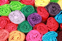 Fabric row Royalty Free Stock Image