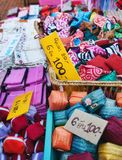 Fabric for sale. In markets in thailand Royalty Free Stock Photography