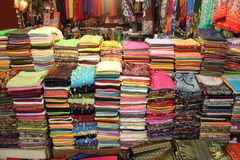 Fabric for Sale at Market Royalty Free Stock Photo