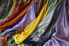 Fabric sales stall Royalty Free Stock Image