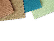 Fabric sample color on white Royalty Free Stock Images