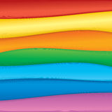 Fabric samples. Colorful rainbow fabric samples for your design royalty free illustration