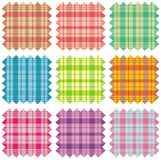 Fabric samples. Illustration of nine fabric samples Vector Illustration