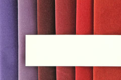 Fabric samples. Color background of fabric samples Stock Images