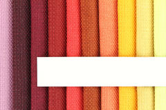 Fabric samples. Color background of fabric samples Stock Photos