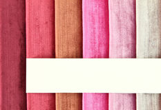 Fabric samples. Color background of fabric samples Stock Image