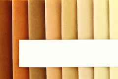 Fabric samples Stock Images