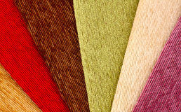 Fabric samples background Stock Photography