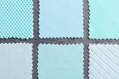Fabric samples on background. Fabric samples on grey background Stock Photo