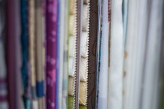 Fabric samples in a curtain shop Stock Images