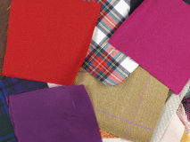 Fabric samples Royalty Free Stock Photography