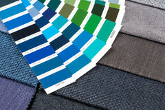 Fabric samples with pantone 2 Royalty Free Stock Image