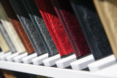Fabric samples row Royalty Free Stock Photo