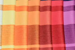 Fabric samples in a store Royalty Free Stock Photos