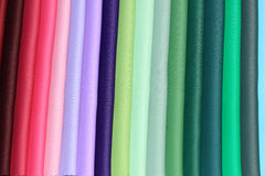 Fabric samples in a store. Fabric swatches in an interior decoration shop Stock Images