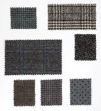 Fabric samples on white sheet Stock Photography
