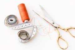 Fabric, Scissors, Needle Royalty Free Stock Photo