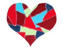 Fabric scraps heart. Valentine's Day Royalty Free Stock Photo