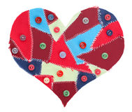 Fabric scraps heart Royalty Free Stock Images