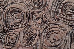 Fabric sculpture background of circles Royalty Free Stock Image