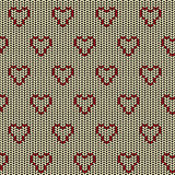 Fabric seamless background pattern with love heart Stock Image