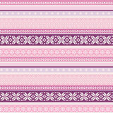 Fabric seamless pattern in folk style Stock Images